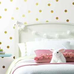 Confetti Dots Peel and Stick Wall Decal Gold - RoomMates
