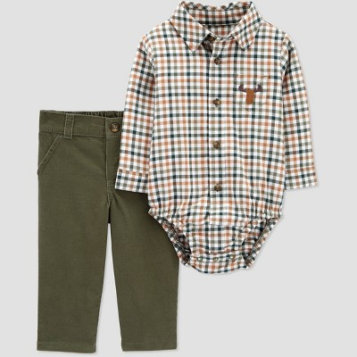 Baby Boys' Moose Plaid Top & Bottom Set - Just One You® made by carter's 3M