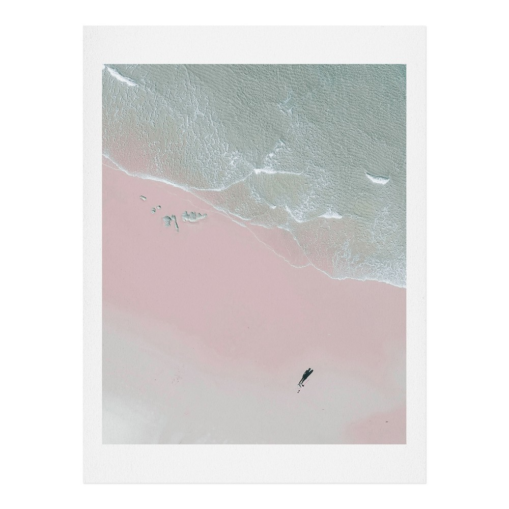 11 x 14 Ingrid Beddoes Surfer Chick Wall Art Print Pink - society6