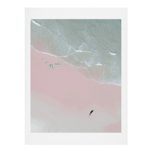 Ingrid Beddoes Surfer Chick Wall Art Print Pink - society6 - image 1 of 2