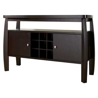 Angla Modern Bold Curved Dining Buffet Espresso - HOMES: Inside + Out
