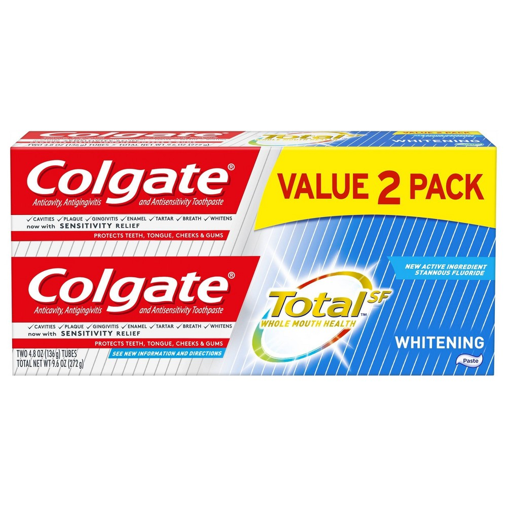 Colgate Total Whitening Paste Toothpaste - 4.8oz/2pk