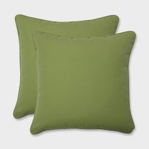 "2pk 16.5"" Colefax Pesto Throw Pillows Green - Pillow Perfect - image 1 of 2"