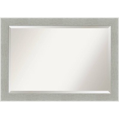 Glam Framed Bathroom Vanity Wall Mirror Linen Gray - Amanti Art