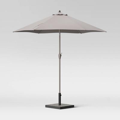 9' Round Patio Umbrella DuraSeason Fabric™ Cream - Ash Pole - Project 62™