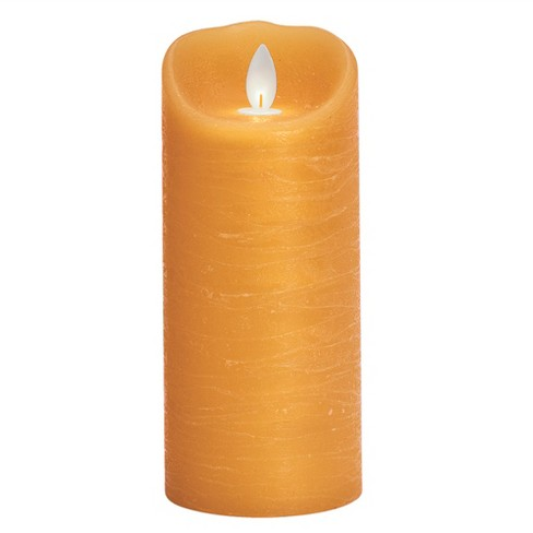 """3"""" x 7"""" Unscented LED Moving Flame Pillar Candle Honey - Threshold™ - image 1 of 3"""