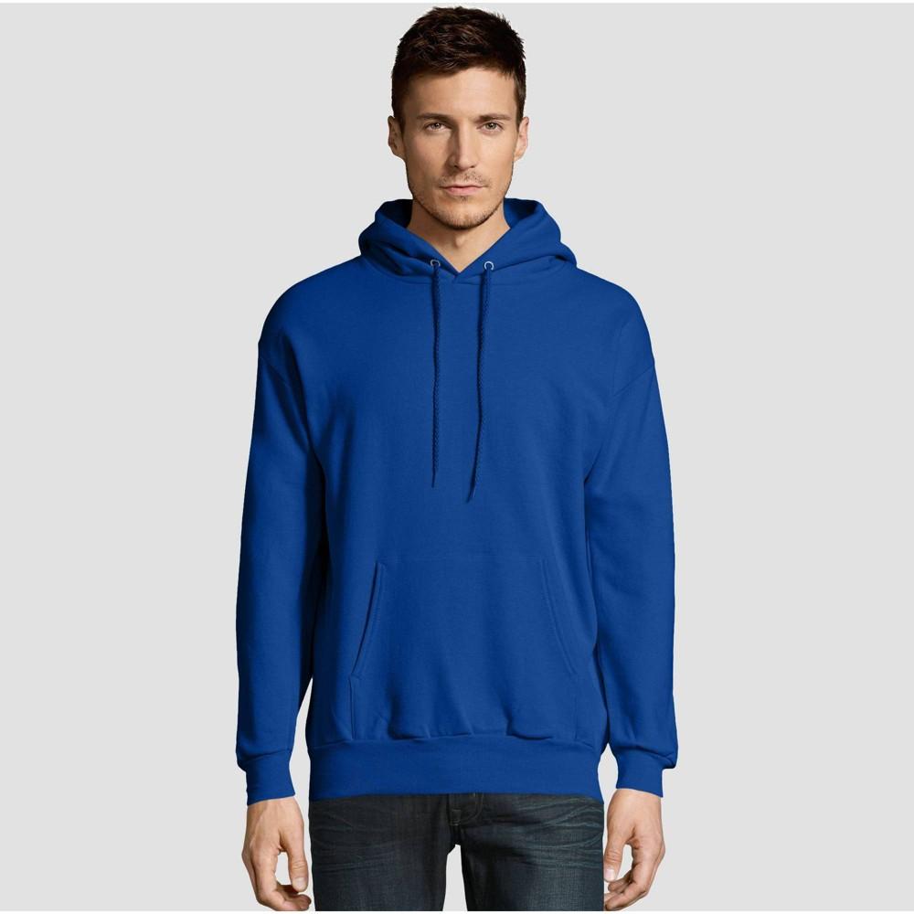 Hanes Men 39 S Ecosmart Fleece Pullover Hooded Sweatshirt Royal Blue S