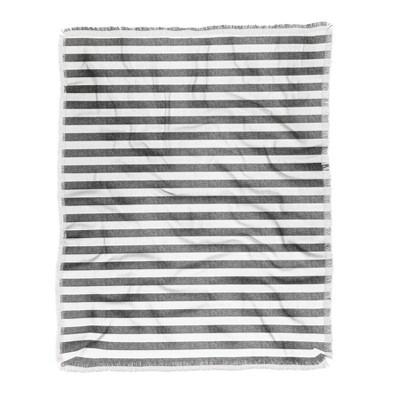 "60""X50"" Little Arrow Design Co Stripes In Gray Throw Blanket Gray - Deny Designs"