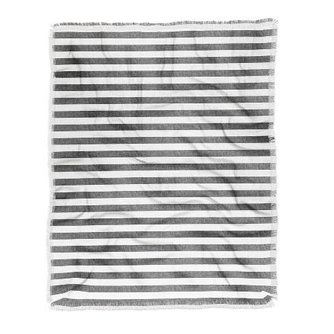 60 X50 Little Arrow Design Co Stripes In Gray Throw Blanket Gray Deny Designs Target