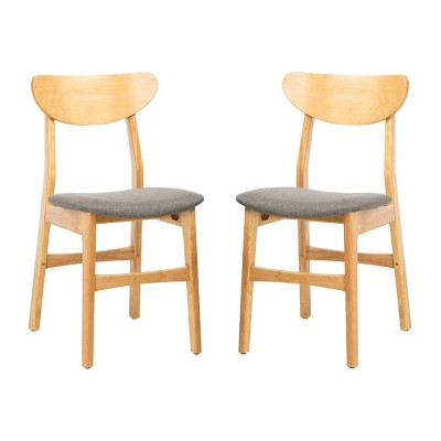 Set of 2 Lucca Retro Dining Chair Natural/Gray - Safavieh
