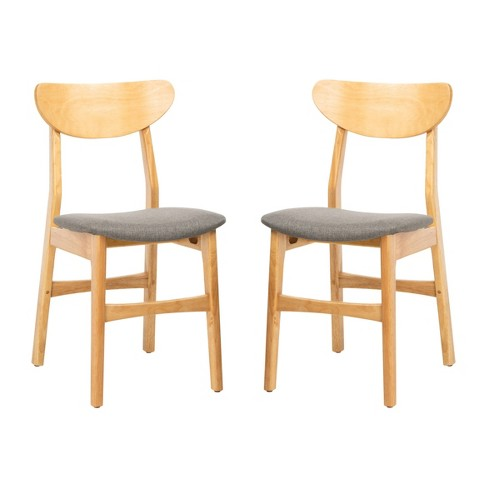 Set of 2 Lucca Retro Dining Chair Natural/Gray - Safavieh - image 1 of 4