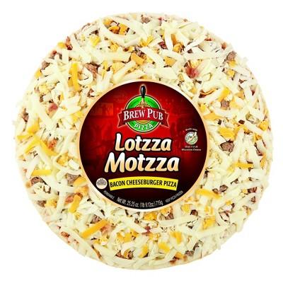 Brew Pub Lotzza Motzza Bacon Cheeseburger Frozen Pizza - 25.25oz