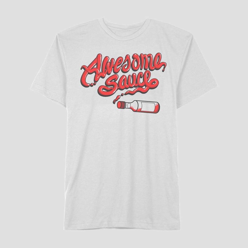 Well Worn Men's Awesome Sauce Short Sleeve T-Shirt - White Orchid S