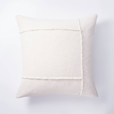 Oversize Square Pieced Woven Cotton Pillow Cream - Threshold™ designed with Studio McGee