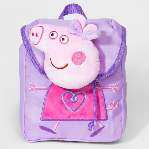 Girls' Peppa Pig Plush Backpack - Purple - image 1 of 2
