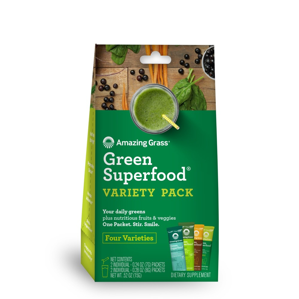 + Green Superfood Dietary Supplement Powder - Variety Pac...