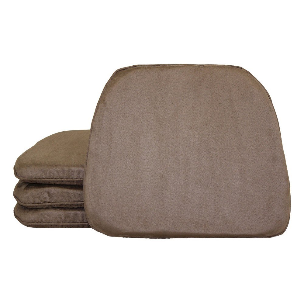 Image of Beige Brentwood Faux Suede Chairpad (4 Pack)