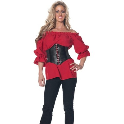 Underwraps Costumes Renaissance Adult Costume Red Blouse