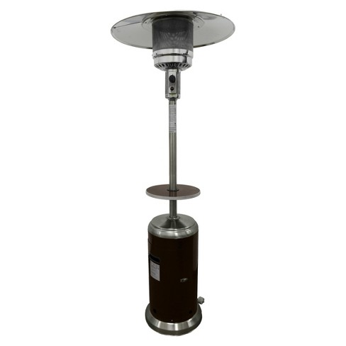 Garden Sun Tall Propane Patio Heater with Table - Stainless Steel and  Hammered Bronze - Garden Sun Tall Propane Patio Heater With Table - Stainless Steel