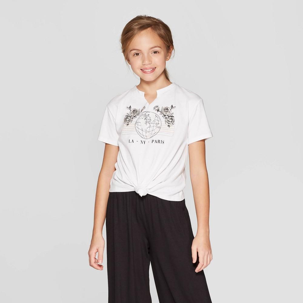 Girls' Short Sleeve UV Graphic T-Shirt - art class White M