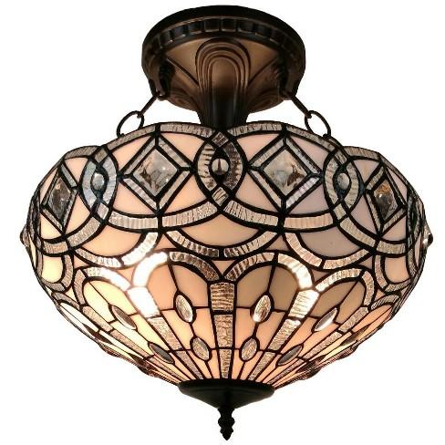 "Amora Lighting AM231HL16 2 Light 16"" Wide Semi-Flush Bowl Ceiling Fixture - image 1 of 1"