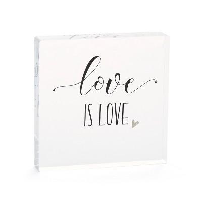 Hortense B. Hetwitt 'Love is Love' Cake Topper Clear