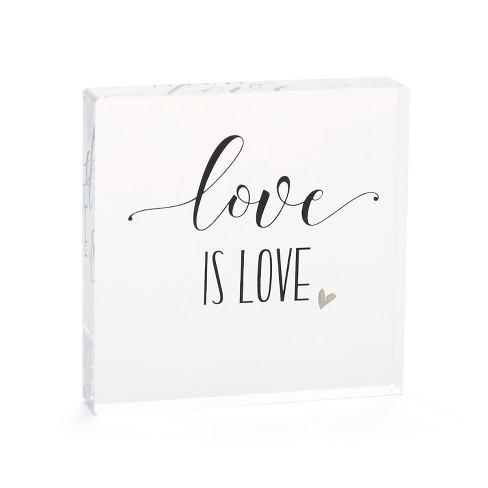 Hortense B. Hetwitt 'Love is Love' Cake Topper Clear - image 1 of 2