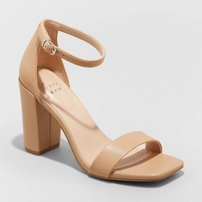 Women's Ema Square Toe Heels - A New Day™