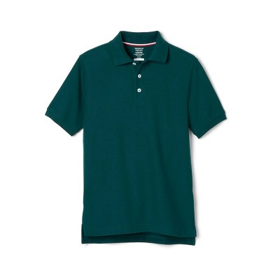 French Toast Young Men's Uniform Short Sleeve Pique Polo Shirt - Green
