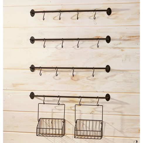 Lakeside Wall Rack for Coffee Mugs, Tea Cups with Industrial Pipe Style - 6 Pieces - image 1 of 2