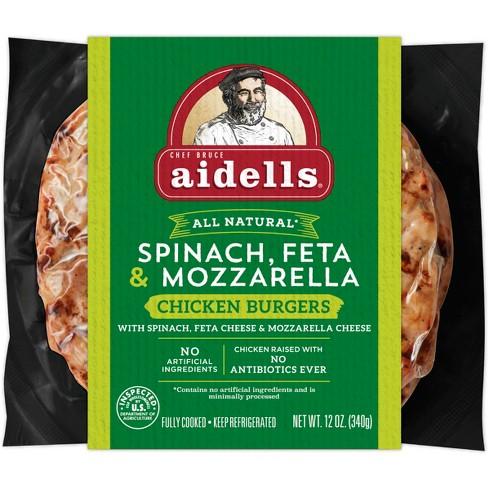 Aidells Spinach, Feta and Mozzarella Burgers - 4pk/12oz - image 1 of 2