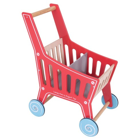 Bigjigs Toys Shopping Trolley Wooden Role Play Toy - image 1 of 3