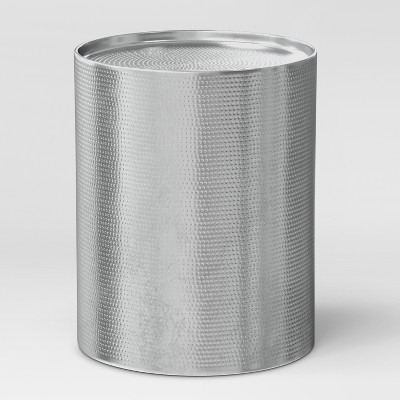 Manila Cylinder Drum Accent Table Silver - Project 62™