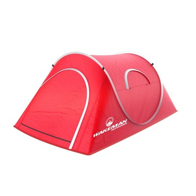 Wakeman Outdoor Camping Pop-Up Tent - Red