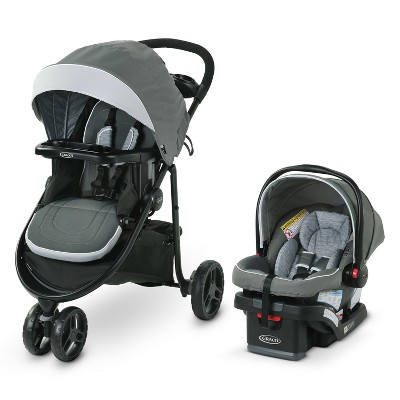 Graco Modes 3 Lite DLX Travel System with SnugRide Infant Car Seat
