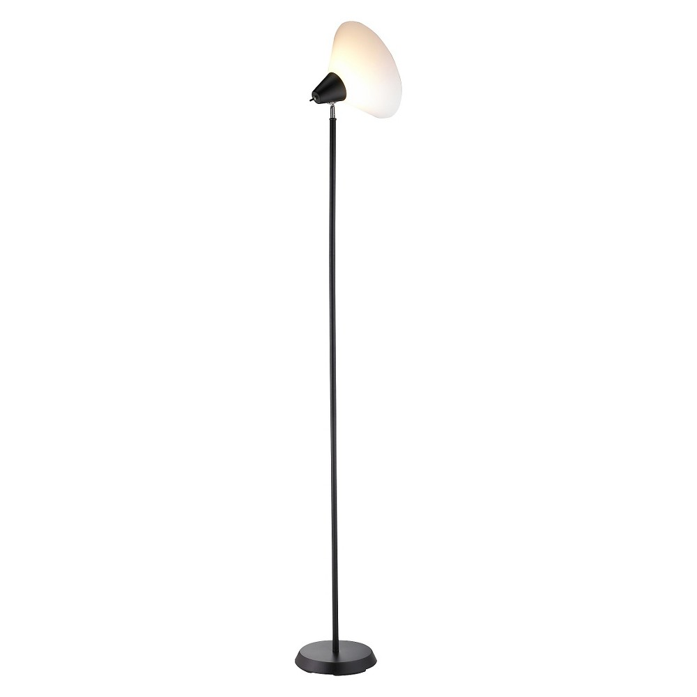 Image of Adesso Swivel Floor Lamp - Black