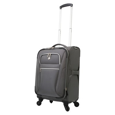 SwissGear Checklite Ultra Liteweight 20  Carry On Suitcase - Charcoal