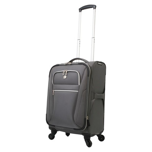 """SWISSGEAR Checklite Ultra Liteweight 20"""" Carry On Suitcase - Charcoal - image 1 of 4"""