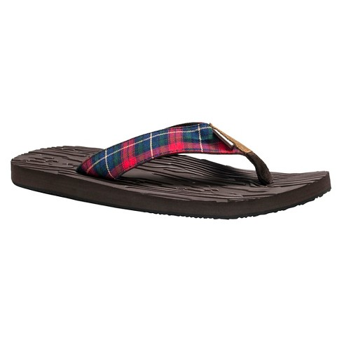 Men's MUK LUKS® Asher Flip Flop Sandals - Brown 9 - image 1 of 6