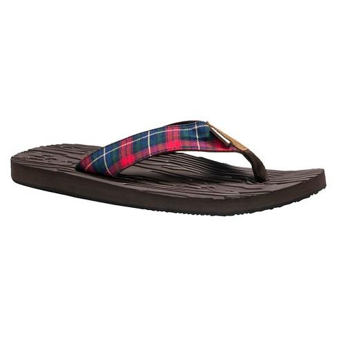 0a1478418de3 Men s MUK LUKS® Asher Flip Flop Sandals - Brown 10   Target