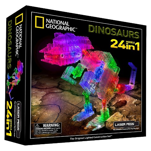 Laser Pegs National Geographic 24 in 1 Dinosaurs Lighted Construction Toy - image 1 of 6