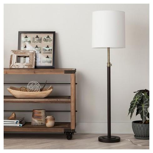 Davis Adjustable Column Floor Lamp Black 6775 Threshold Target