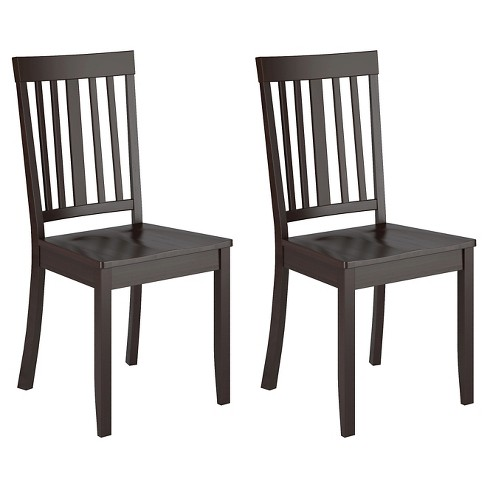 Set of 2 Atwood Stained Dining Chair Wood/Cappuccino - CorLiving - image 1 of 4