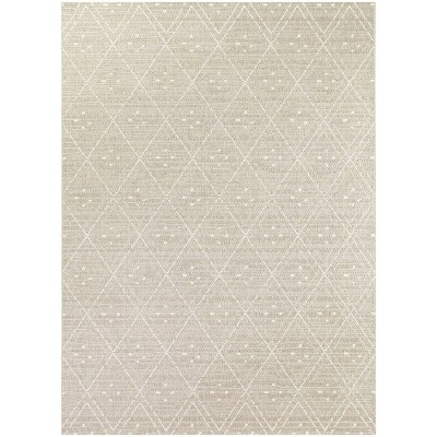 Small Diamond Outdoor Rug Taupe - Project 62™