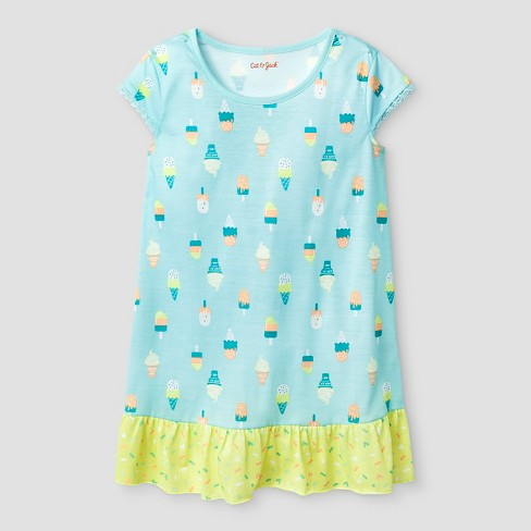 52061bffd4 Girls  Nightgown - Cat   Jack™ Aqua   Target