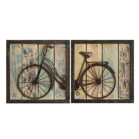Rustic Bicycle Wall Decor (Set of 2) - Stratton Home Decor - image 1 of 2