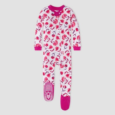 Burt's Bees Baby® Baby Girls' Floral Footed Pajama - Pink 12M
