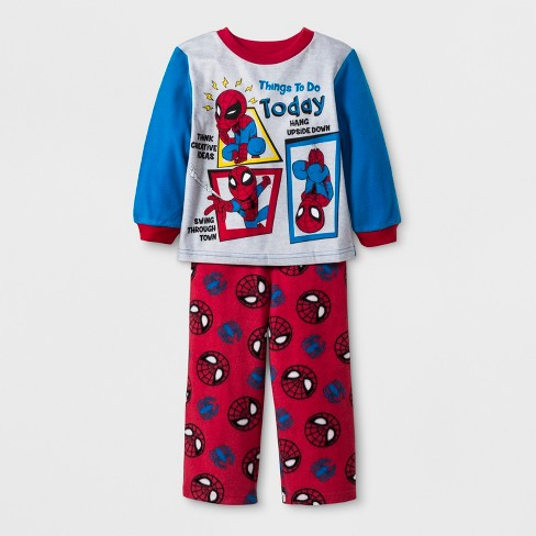 fd82585672 Toddler Boys  Spider-Man 2pc Fleece Pajama Set - Re   Target