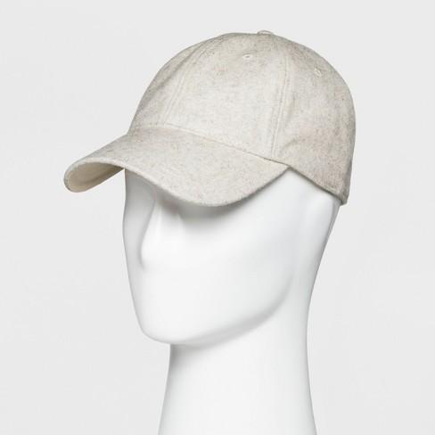 Men s Wool Blend Curved Visor Baseball Cap - Goodfellow   Co™ Light ... 715bc891008