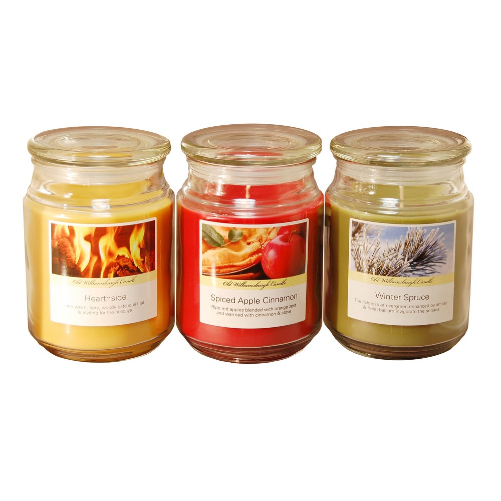 Image of 18oz 3ct Holiday Collection Scented Candle Set - LumaBase